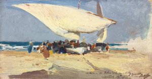 Joaquin Corolla (1863 - 1923): The Return of the Catch, Valencia Beach